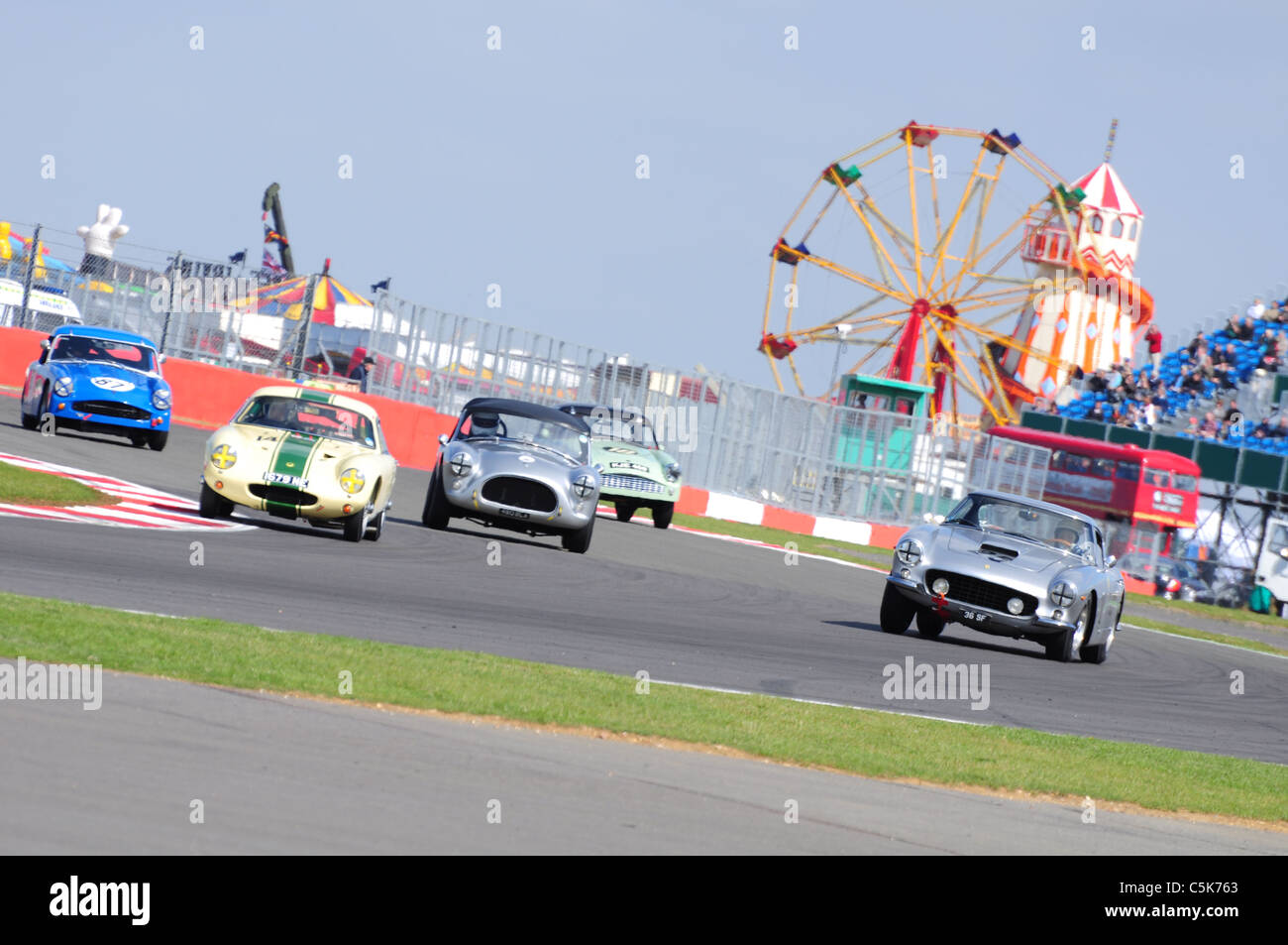 RAC Tourist Trophy for Historic Cars - Silverstone Classic - Stock Image