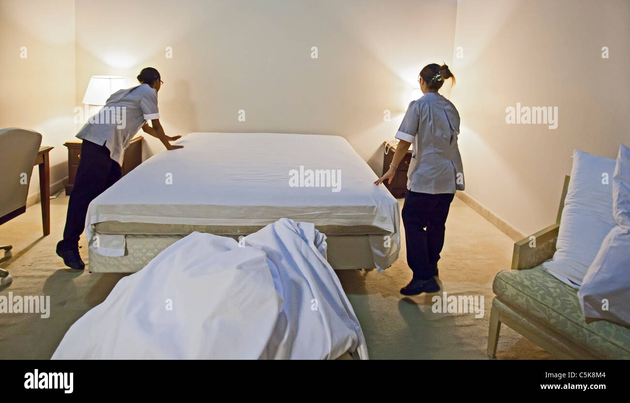 Workers Train for Jobs in Las Vegas Hotels Stock Photo