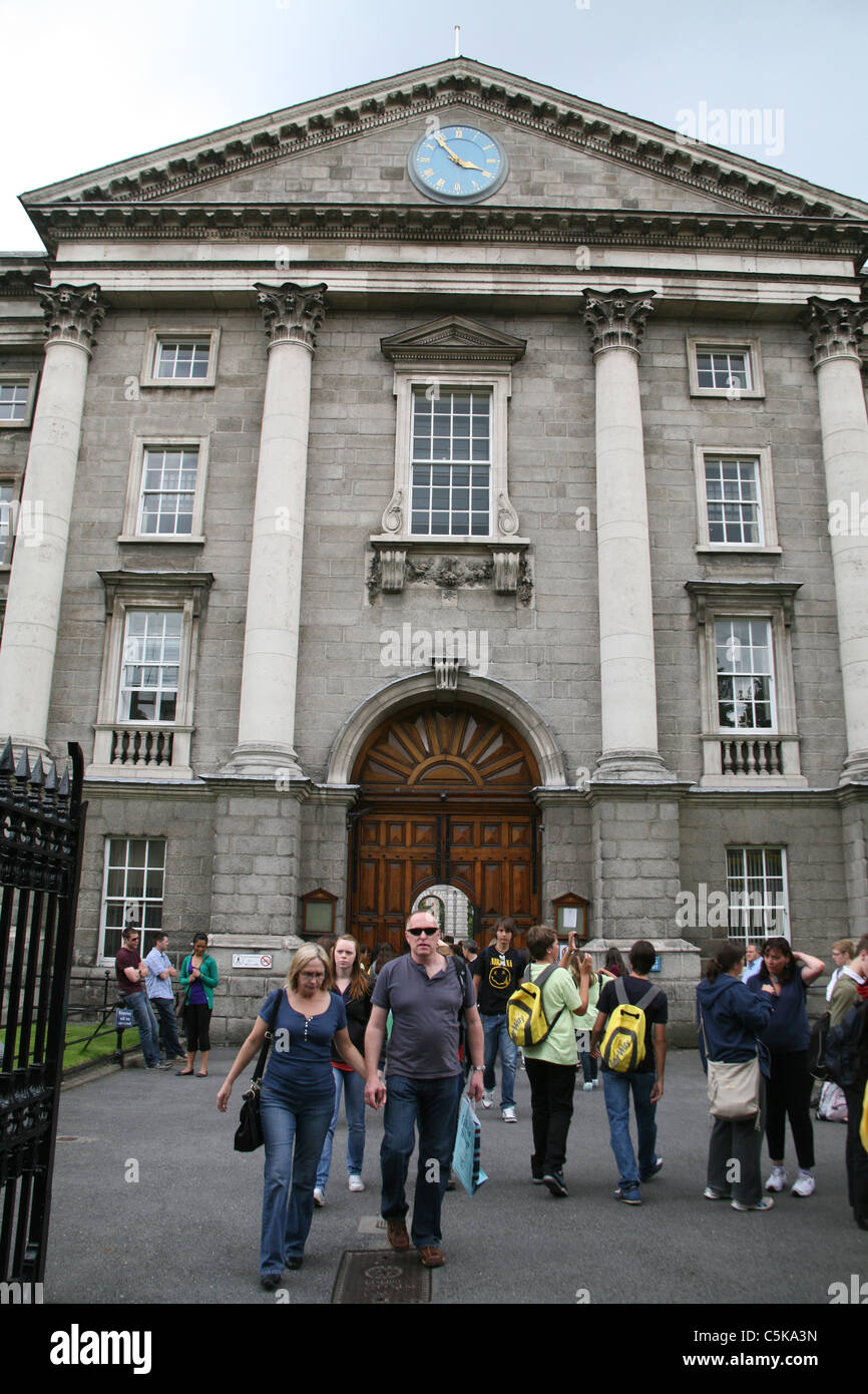 The front entrance to Trinity College Dublin Ireland - Stock Image