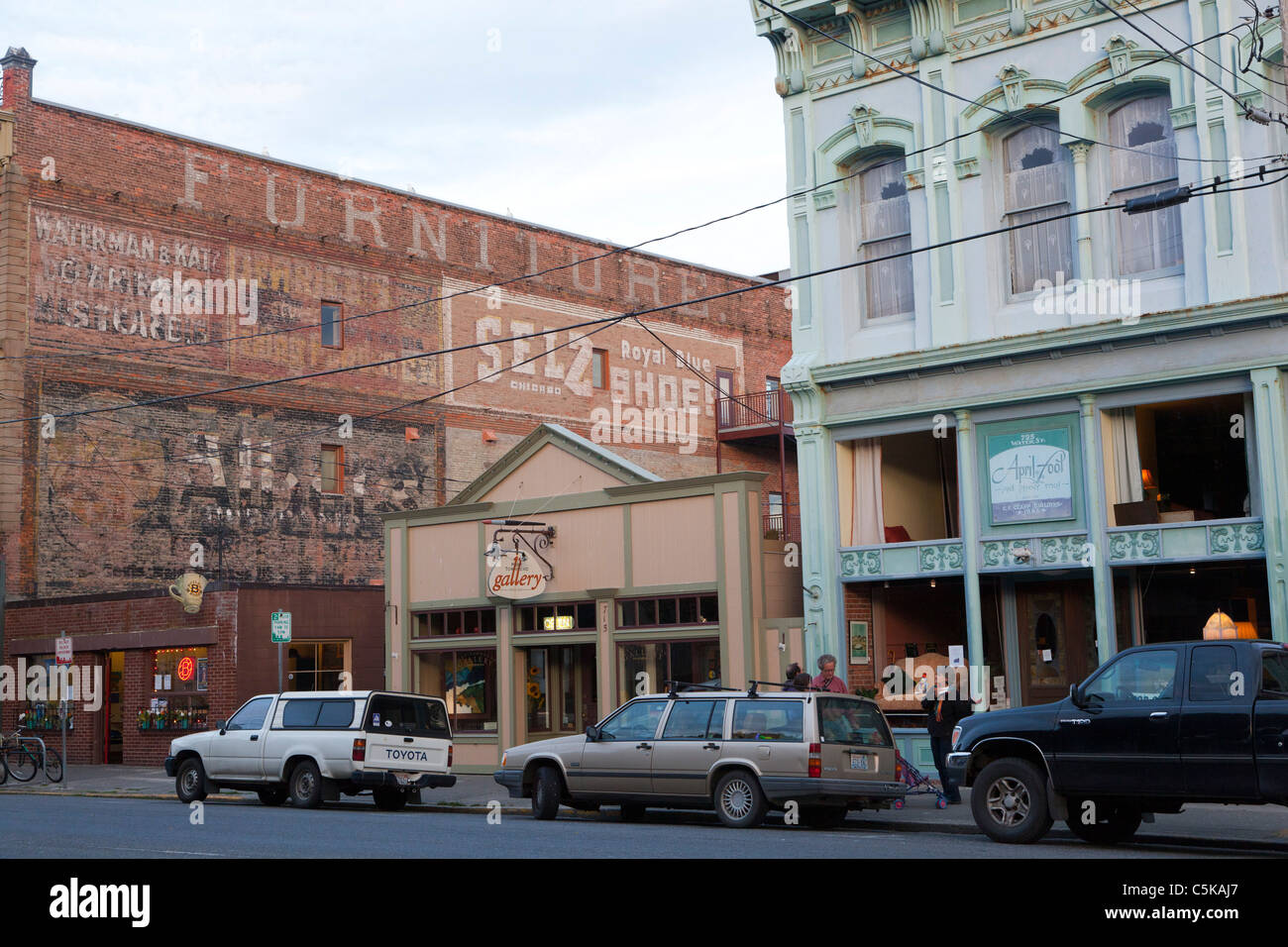 Port townsend main street washington usa stock image