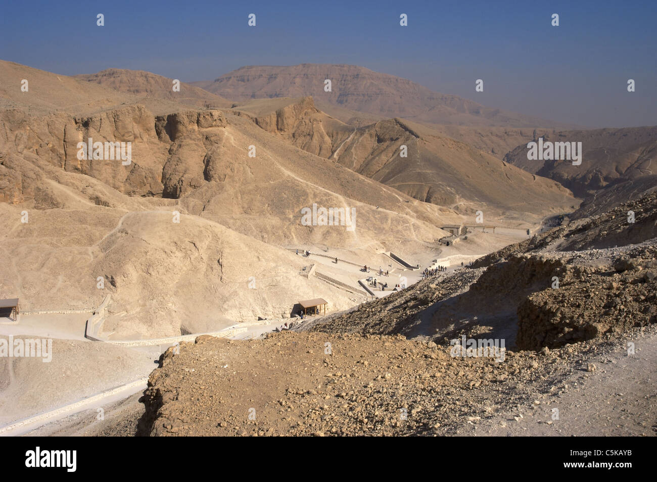 Egypt. Valley of the Kings. New Kingdom. Scenery. - Stock Image