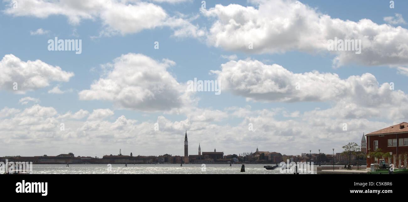 Italy. Venice. Panorama and Venetian Lagoon. - Stock Image
