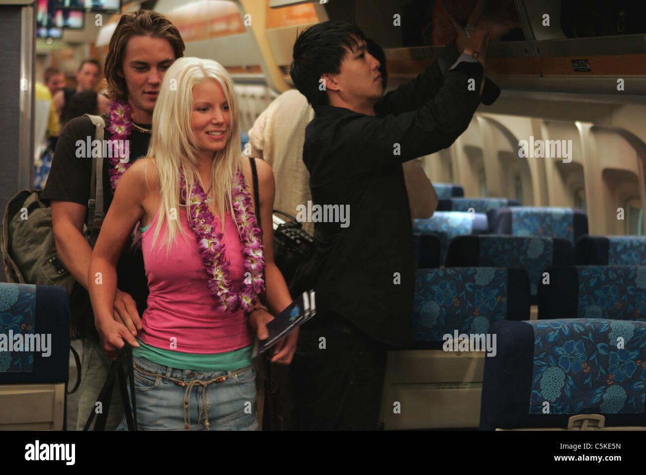 Snakes on a Plane  Year : 2006 - USA Samantha McLeod, Taylor Kitsch  Director : David R. Ellis Stock Photo