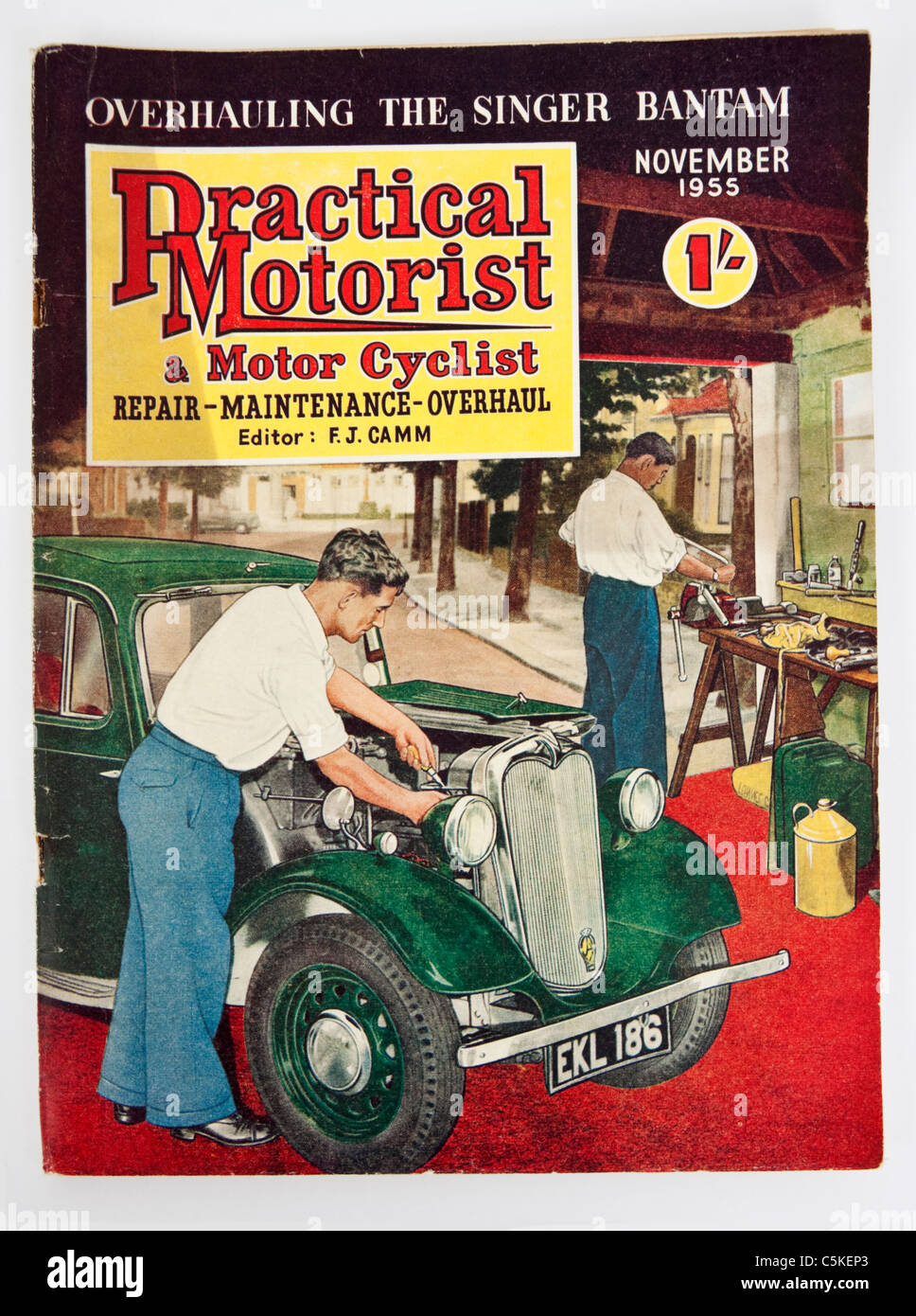 Practical Motorist & Motor Cyclist Magazine from November 1955 - Stock Image