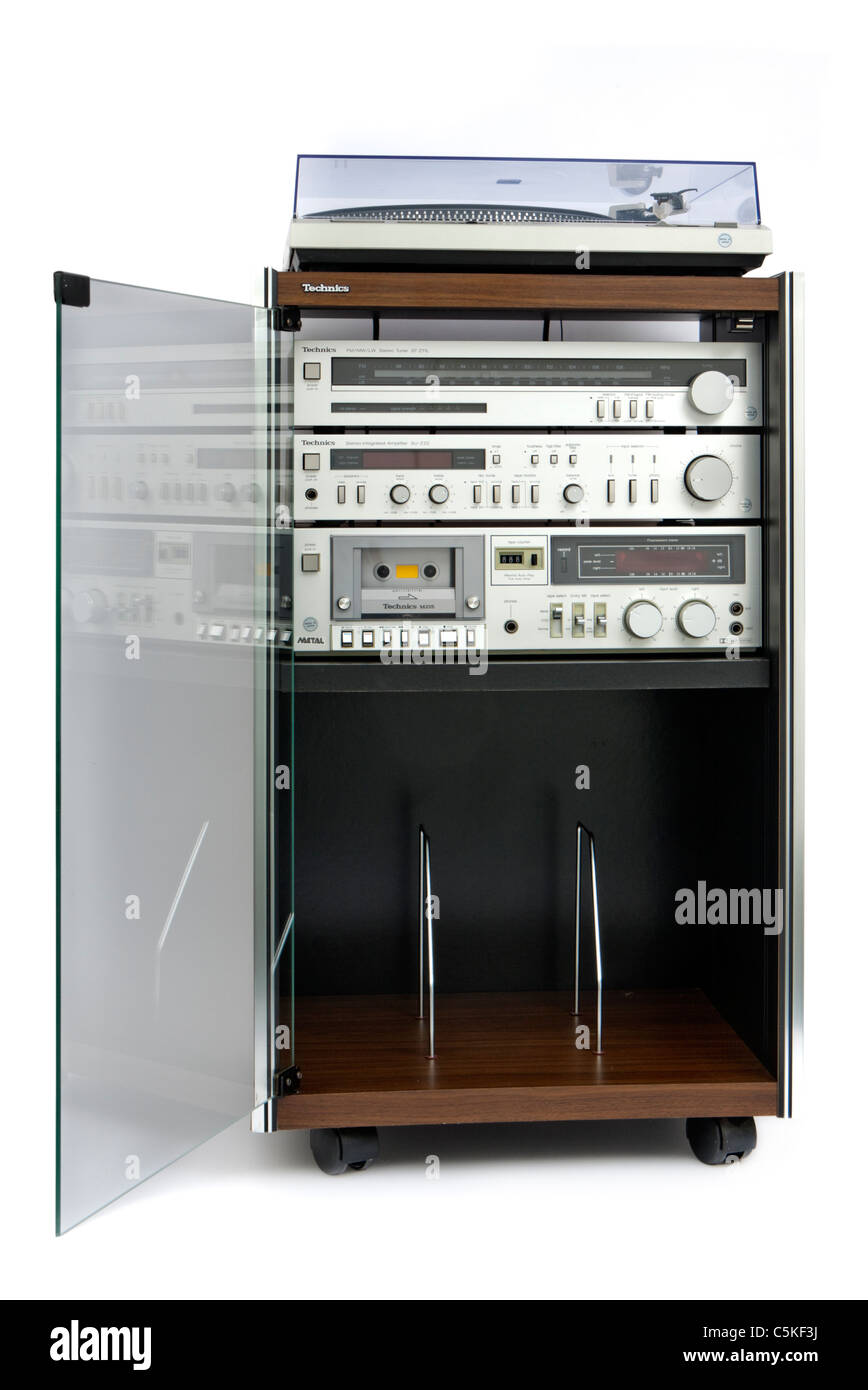 Incroyable Vintage 1970u0027s Technics Hi Fi Music System Stock Photo ...