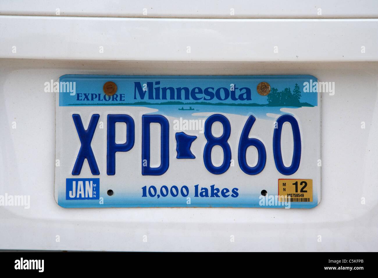 Explore 10 Usa Plate - License 37923491 Vehicle Stock Alamy Photo 000 Minnesota State Lakes