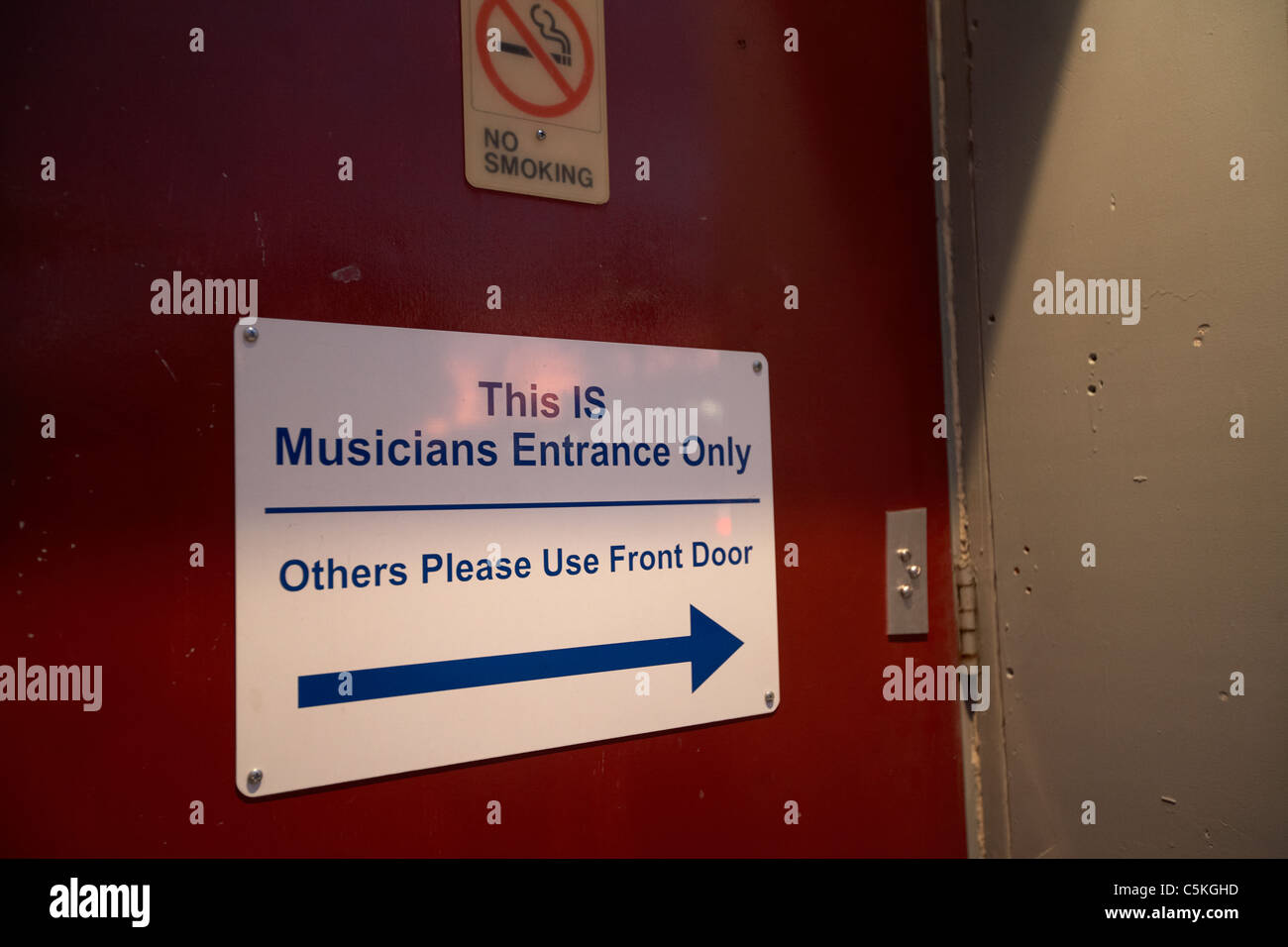 musicians entrance only door at the station inn nashville tennessee - Stock Image