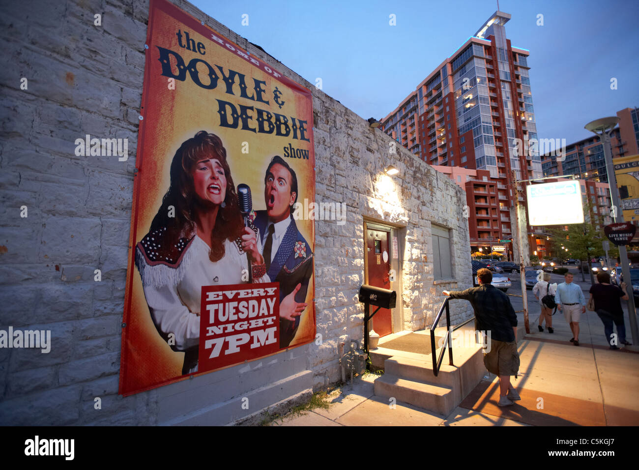 the doyle and debbie show poster at the station inn nashville tennessee usa - Stock Image