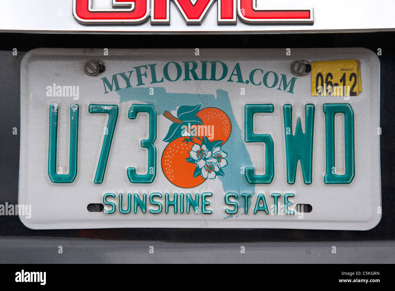 Florida Sunshine State Issued In Miami Dade County Vehicle License