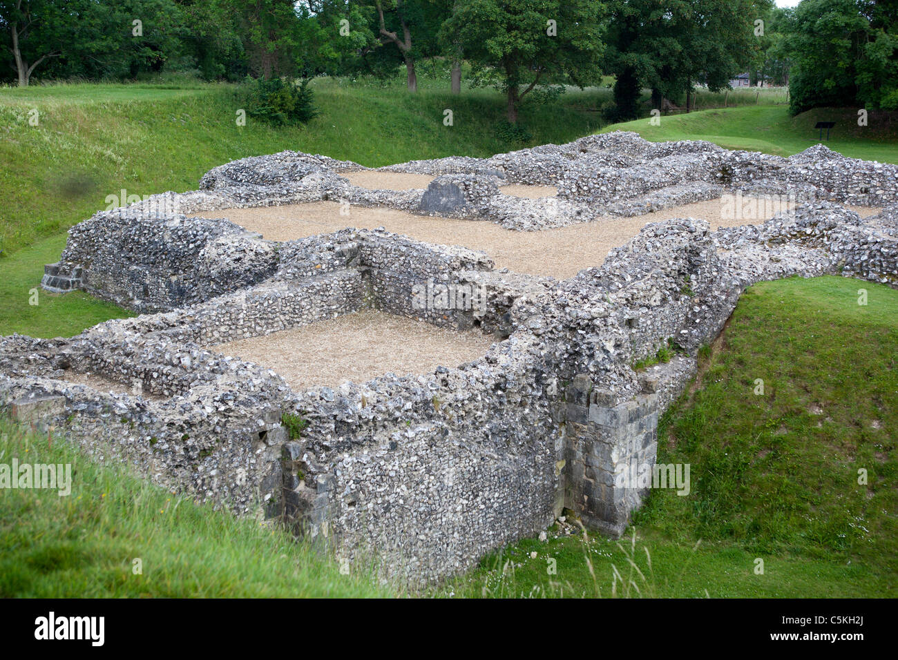 Grounds of Ludgershall Castle near Andover Wiltshire - Stock Image