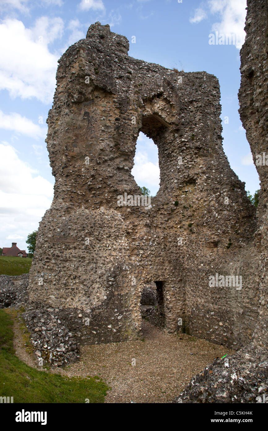 Ludgershall Castle near Andover Wiltshire - Stock Image