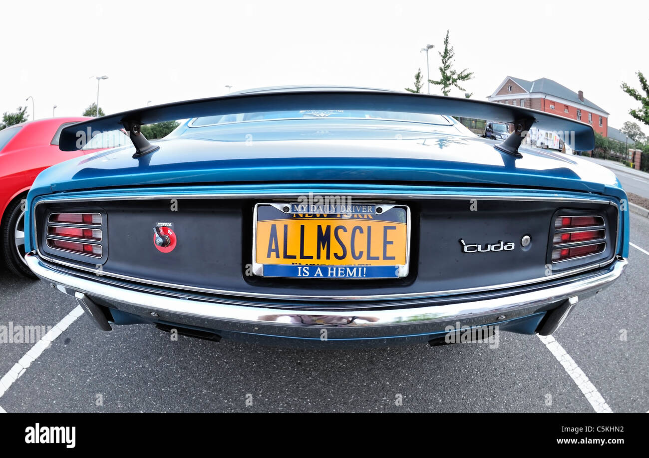 Plymouth Baracuda Muscle Car Rear With Allmscle All Muscle Stock