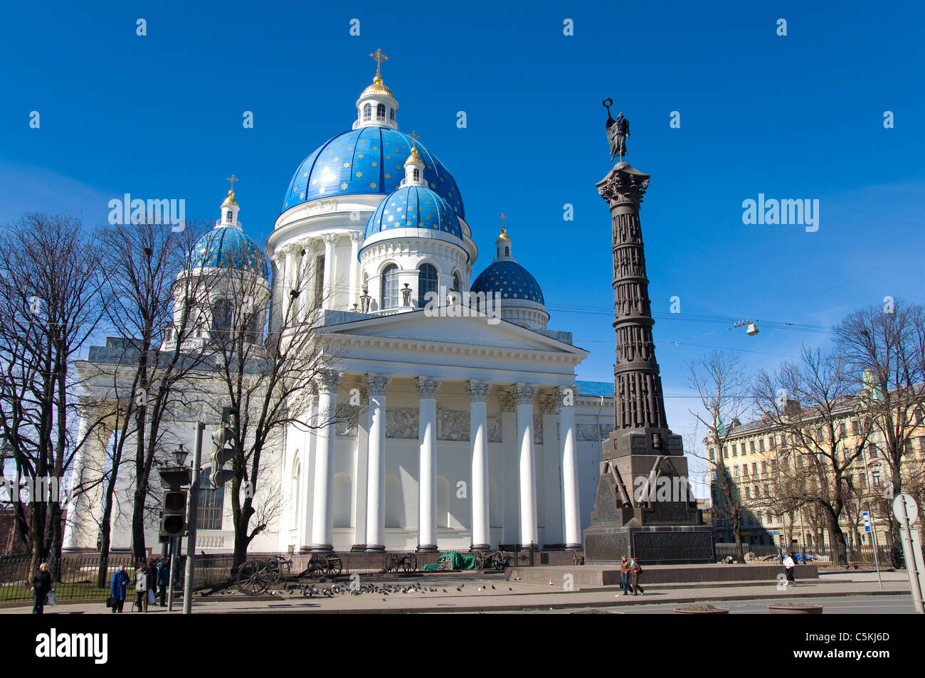The Holy Trinity Cathedral, St Petersburg, Russia - Stock Image