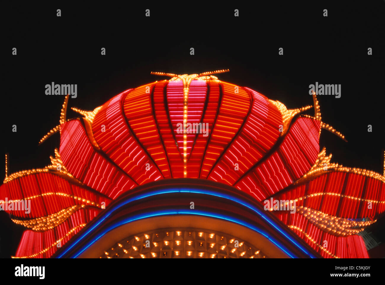 Casino light sign, Las Vegas, NV - Stock Image