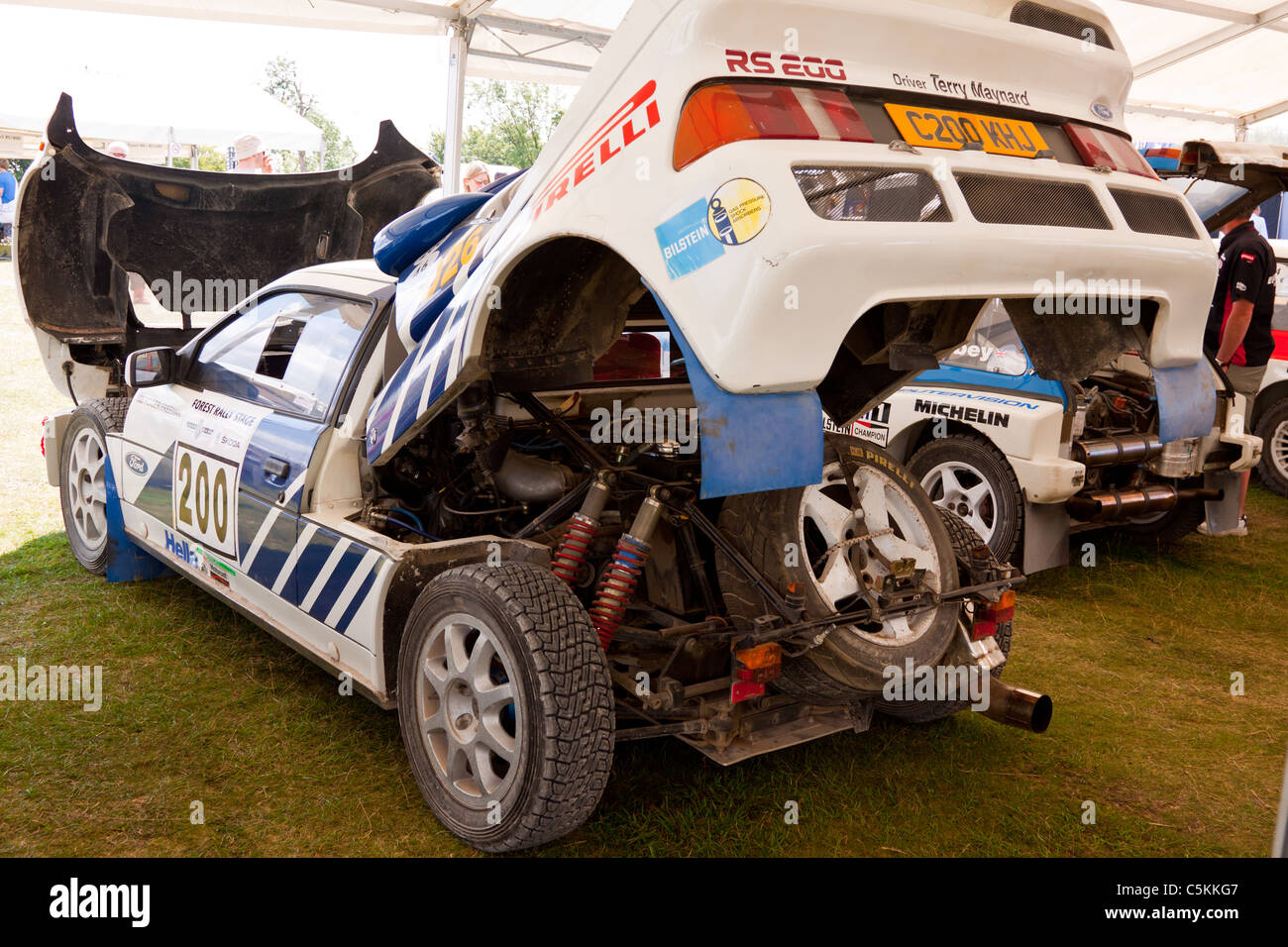 Rear Engine Bay Of The Legendary Ford Rs200 Rally Car On Display At