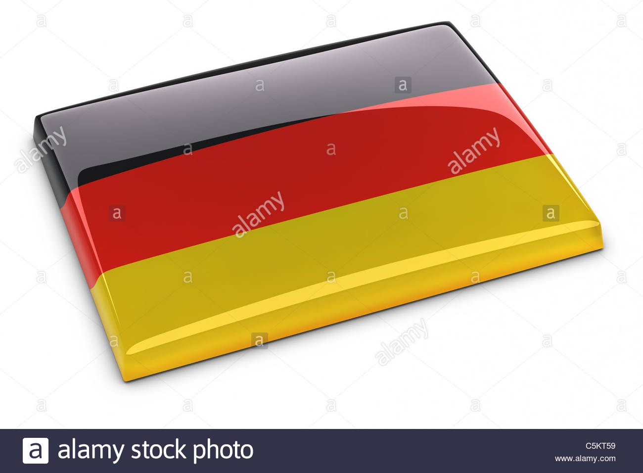 German Flag. Clipping path included. - Stock Image