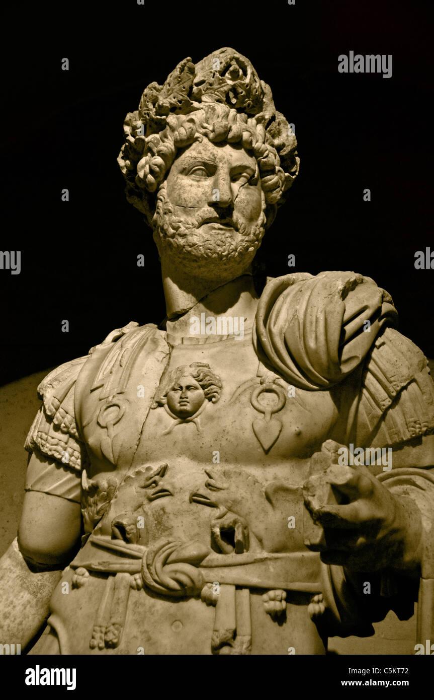 Hadrian Roman Emperor Cent AD Perge Perga Turkey - Stock Image