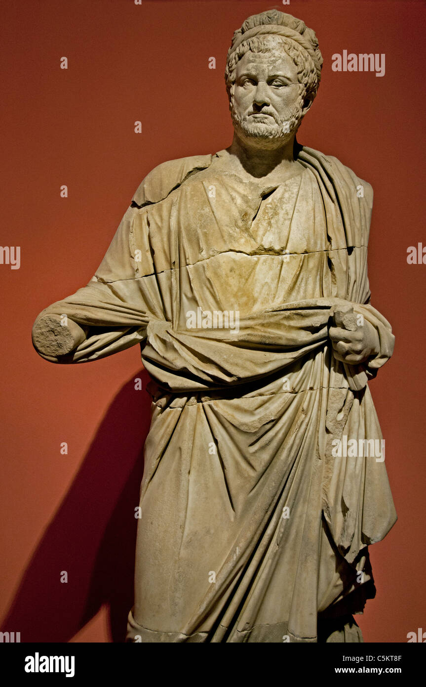Priest of Imperial cult  Roman 2 cent AD Perge Perga Turkey - Stock Image
