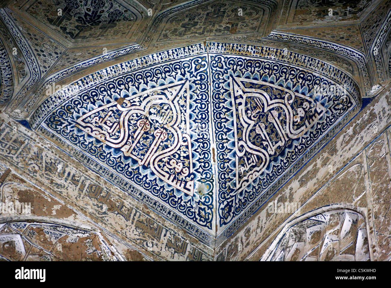 Sayyed Rukhn al-Din mausoleum (1326), Yazd, Iran - Stock Image
