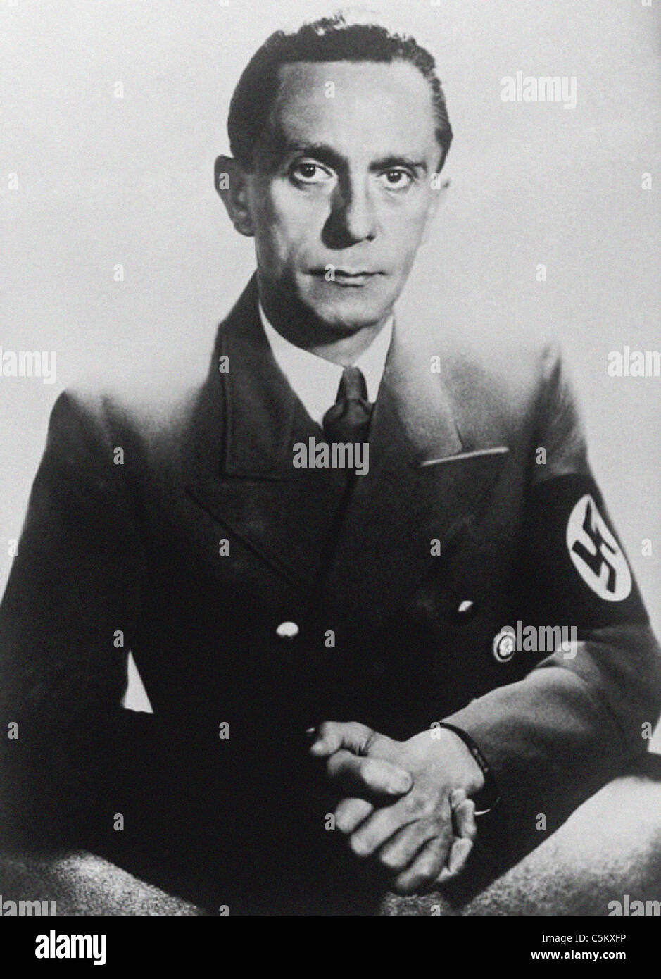 Joseph Goebbels German wartime Minister of Propaganda from the archives of Press Portrait Service - Stock Image