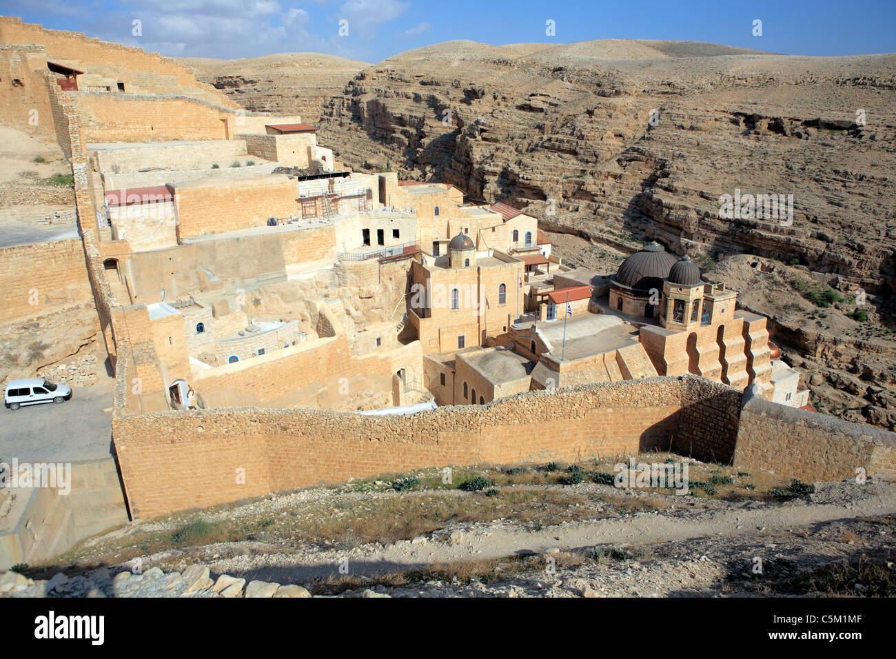 Greek orthodox monastery of St. Saba, Mar Saba, Israel - Stock Image