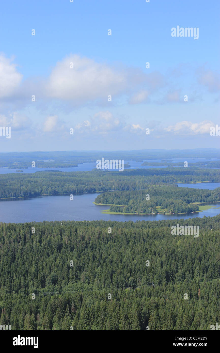 Aerial view of Kuopio, Eastern Finland - Stock Image