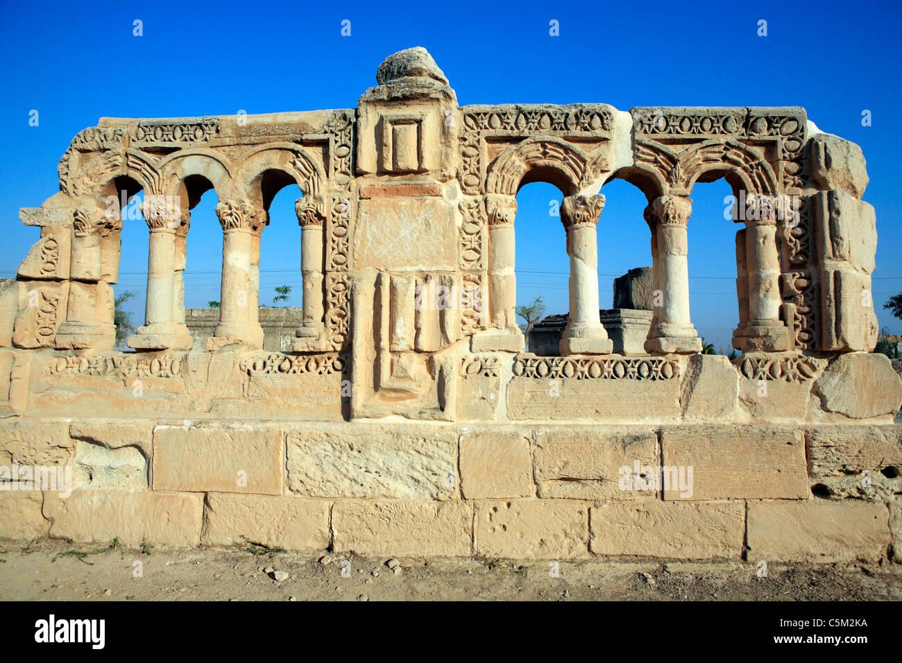 Umayyad palace Khirbat al-mafjar (750s), Jericho, Israel - Stock Image