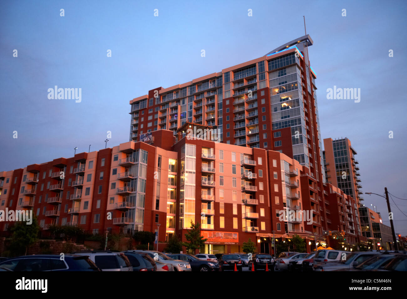icon at the gulch neighbourhood in Nashville Tennessee USA - Stock Image