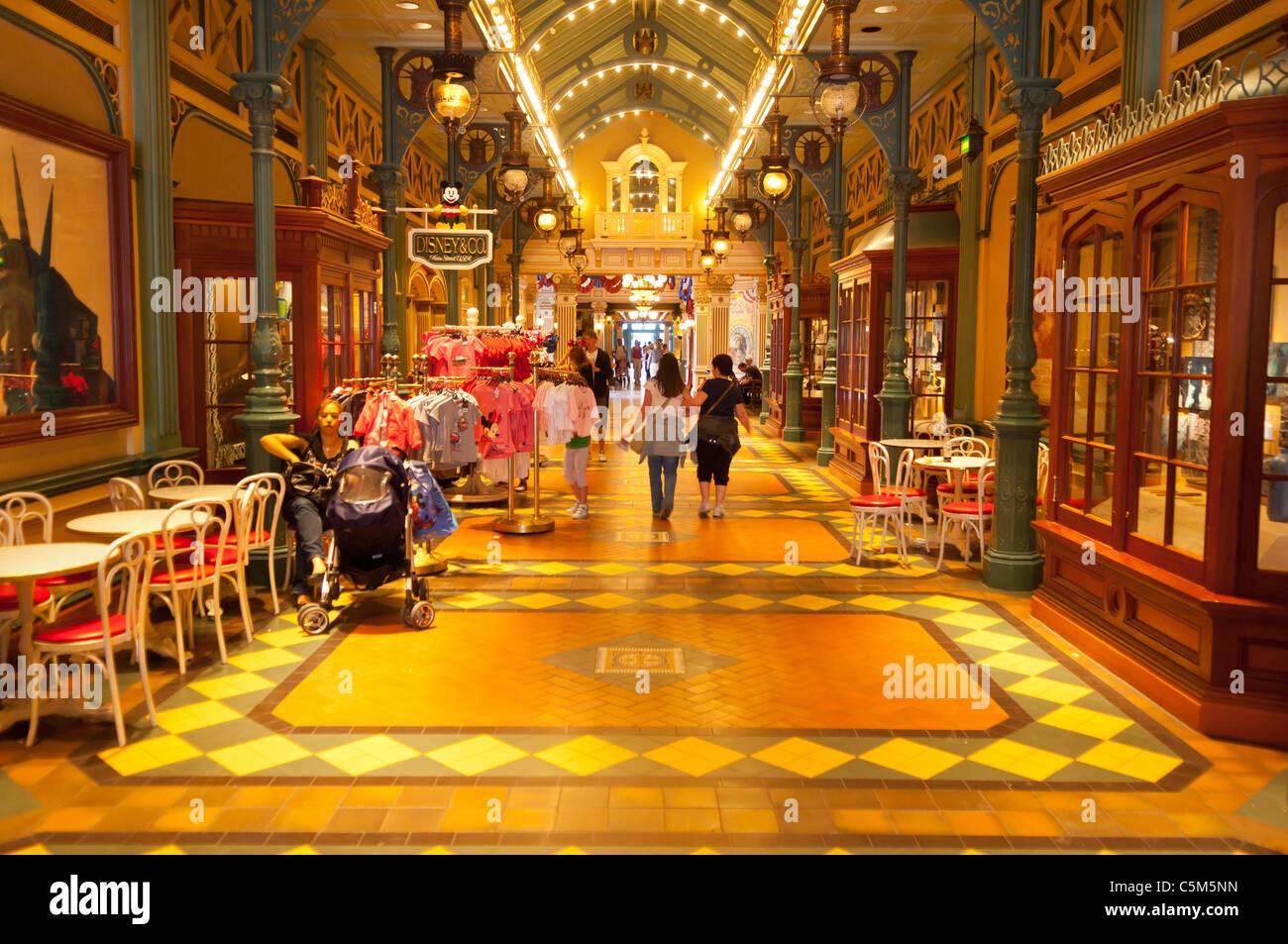 The Liberty Arcade at Disneyland Paris in France - Stock Image