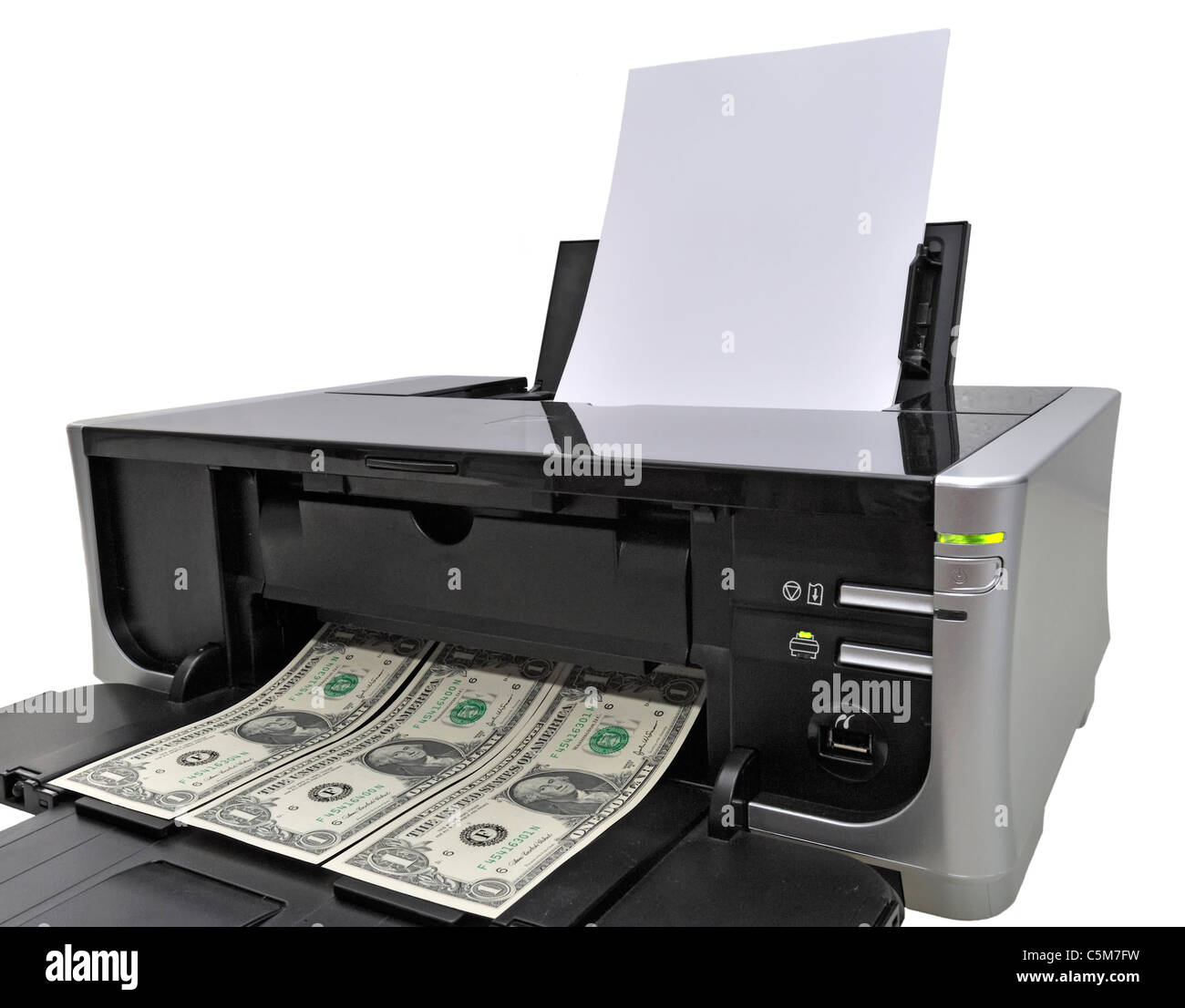 US Dollar Notes and Printer Stock Photo: 37938989 - Alamy