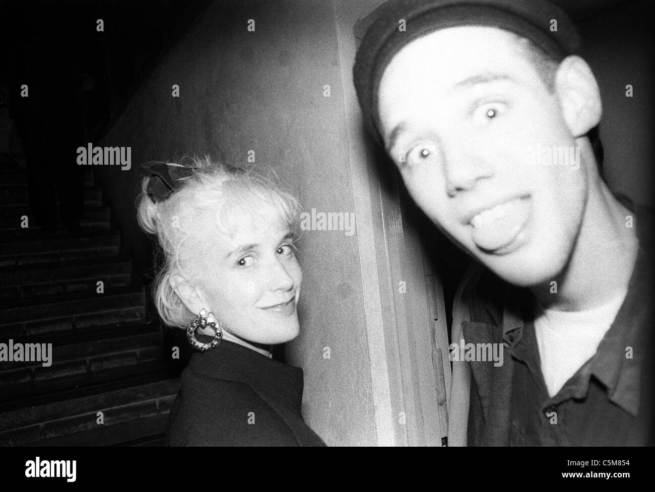ben volpeliere-pierrot and Paula Yates - Stock Image