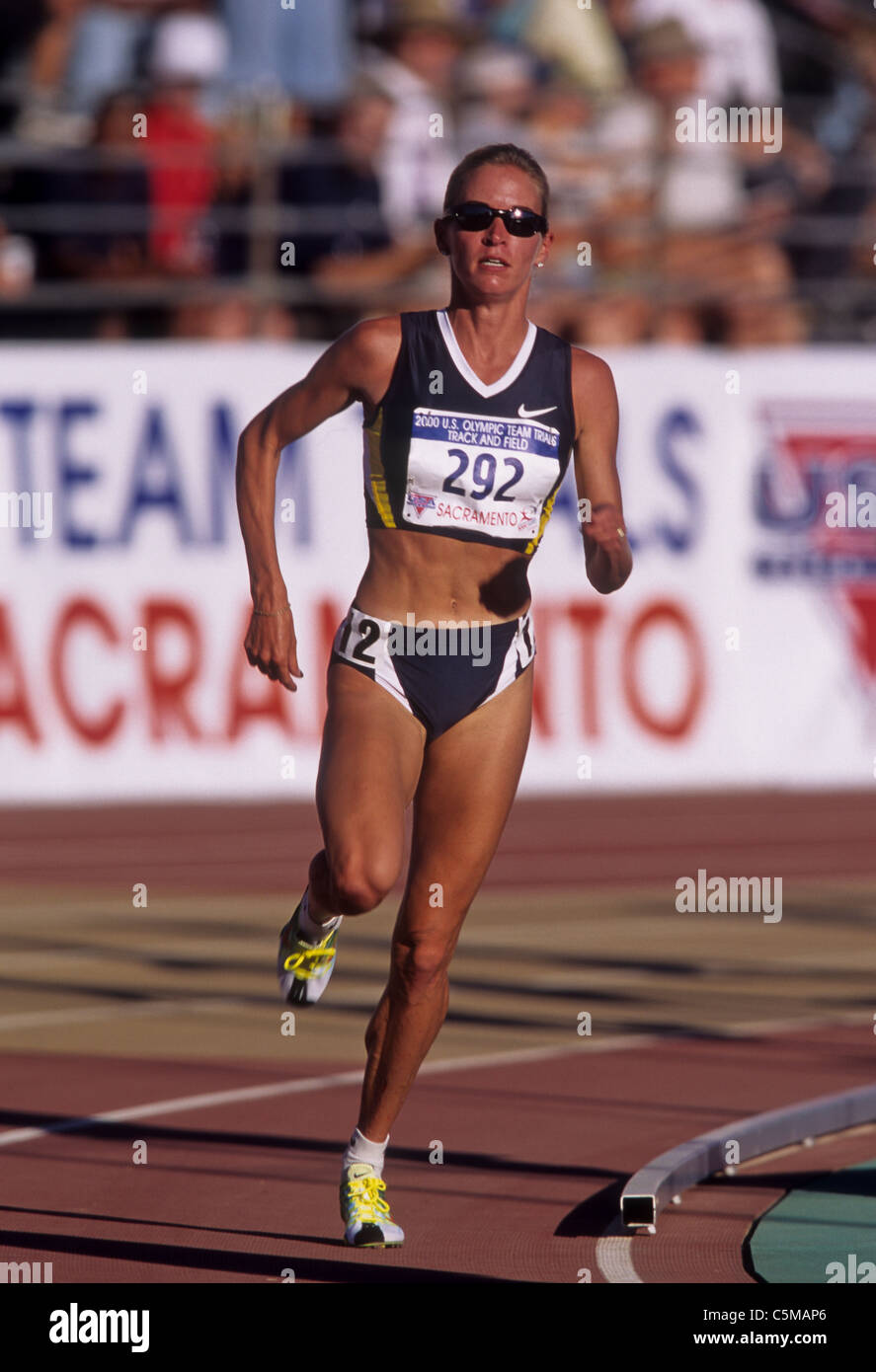 Suzy Favor Hamilton (USA) competing at the 2000 US Olympic Track and ...