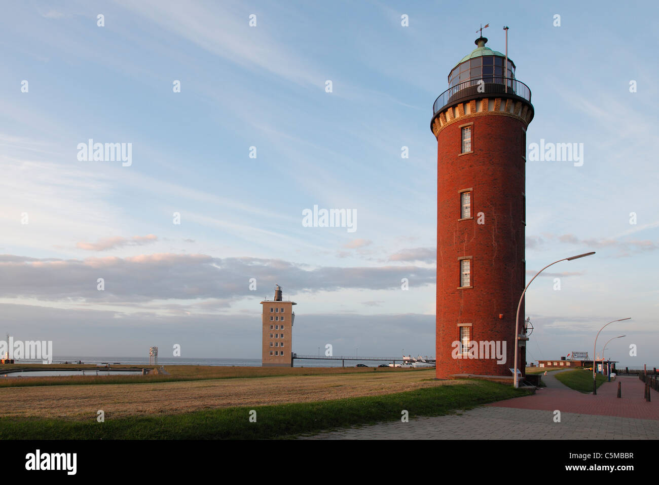 lighthouse in Cuxhaven, Germany - Stock Image