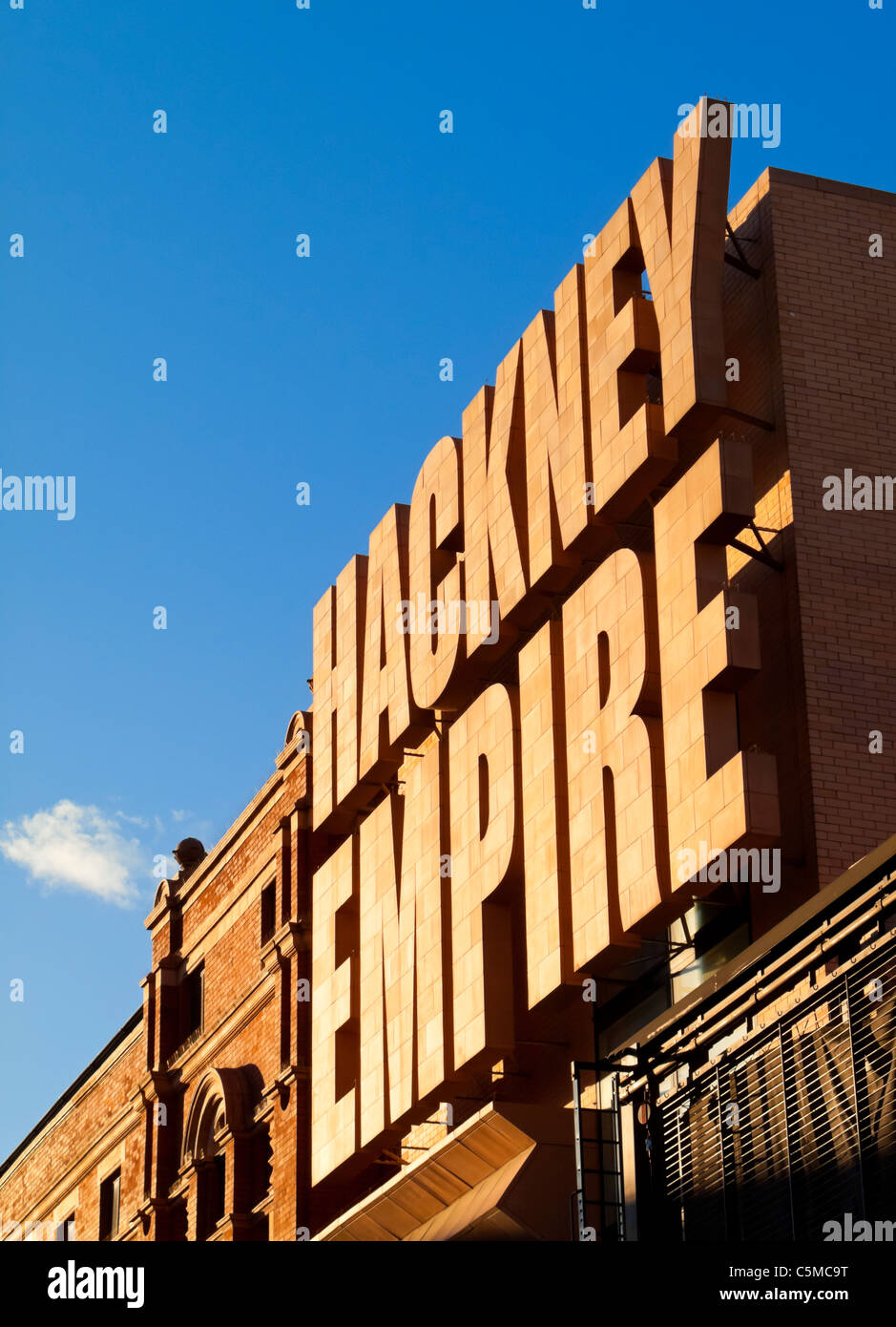 View of the 2004 refurbished part of the Hackney Empire Theatre in East London  UK built in 1901 by architect Frank - Stock Image
