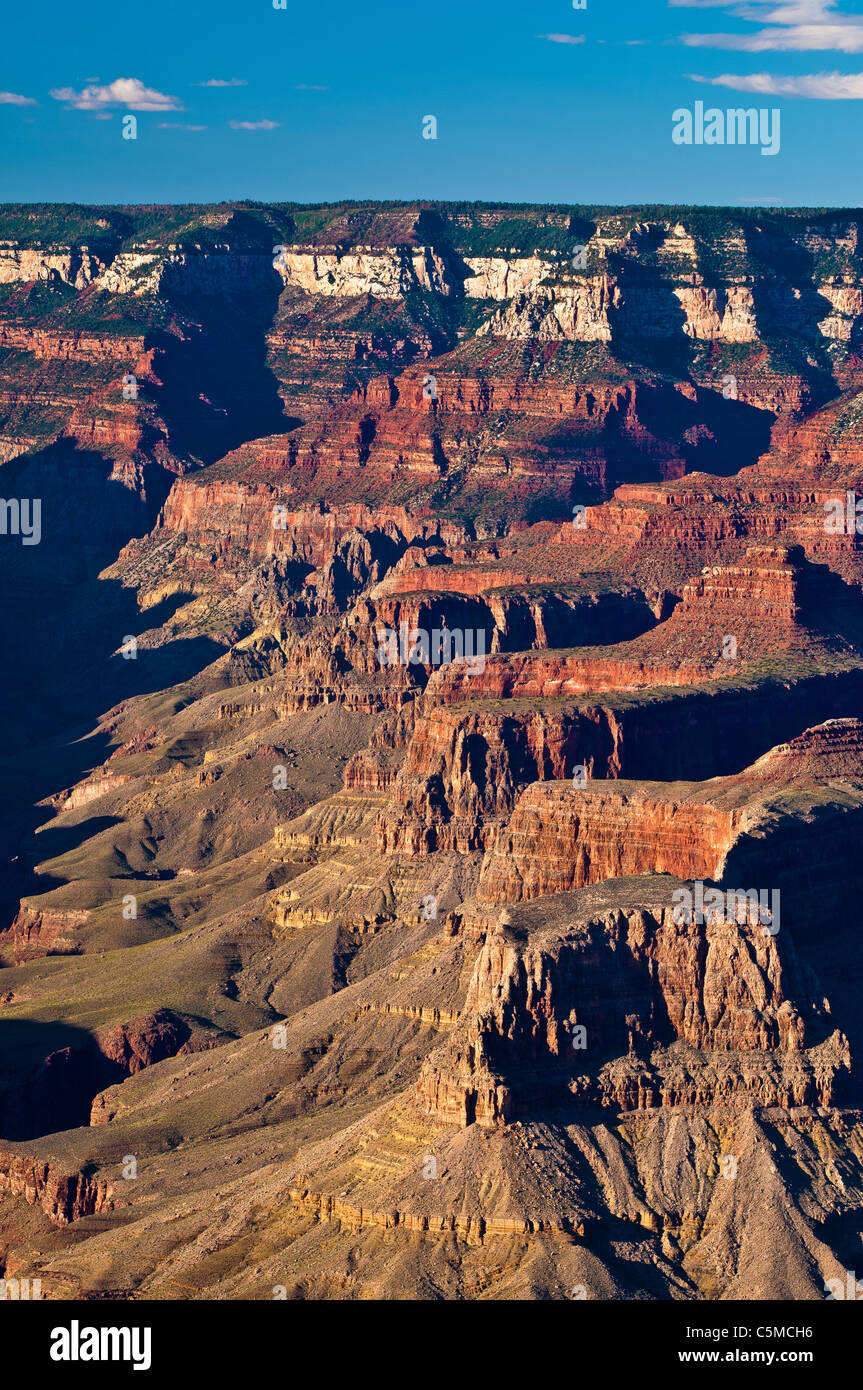 Sunset at Yavapai Point, Grand Canyon National Park, South Rim, Arizona, USA - Stock Image