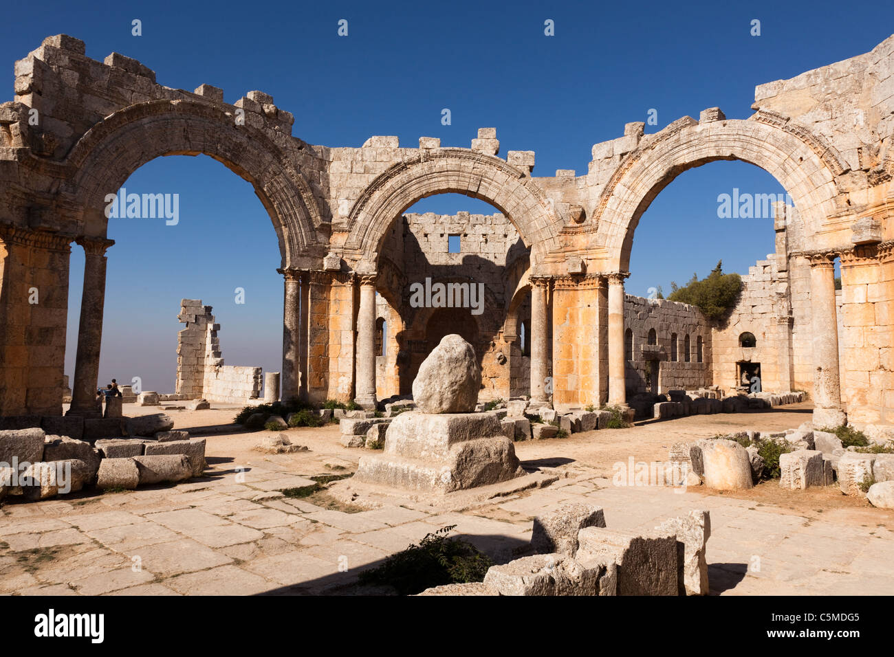 Qala'at Samaan, the Church of Saint Simeon, near Aleppo, Syria, Middle East Stock Photo