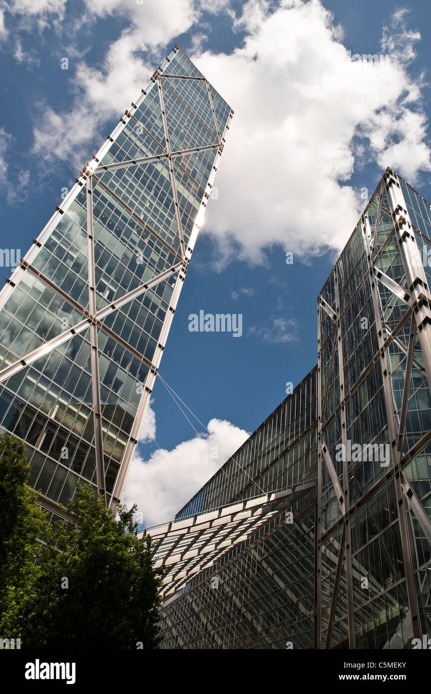 Broadgate Tower seen from Primrose Street, London, designed by Skidmore, Owings & Merrill. - Stock Image