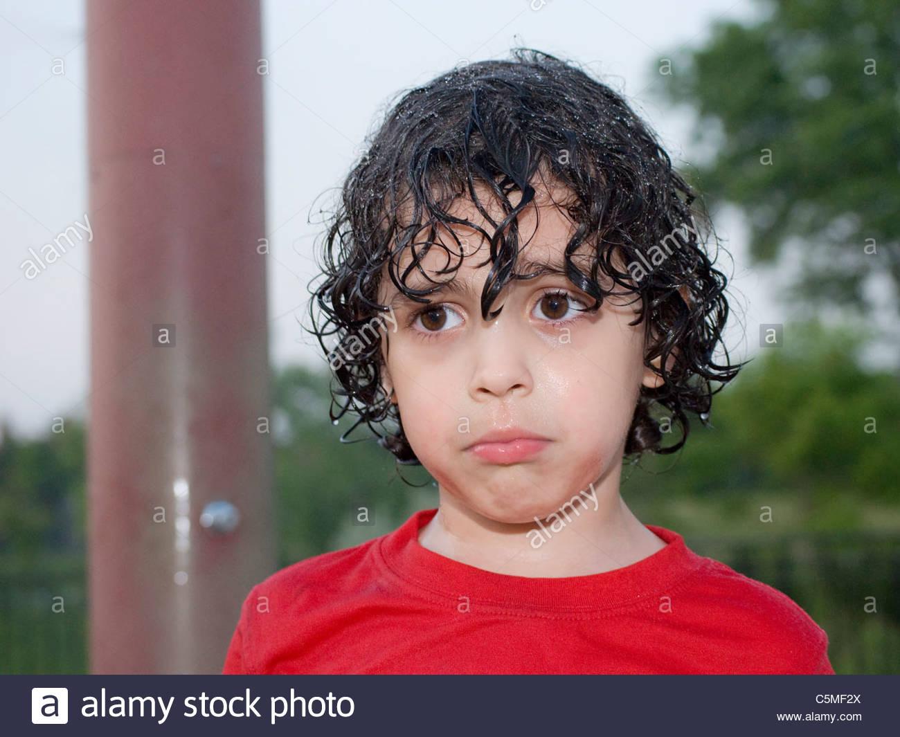 Boy Wet Hair After Playing Stock Photos & Boy Wet Hair
