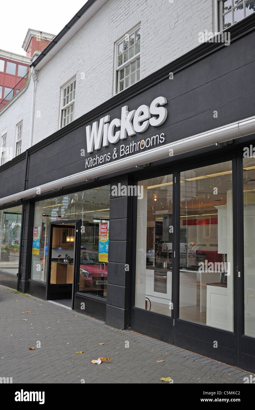Wickes Kitchen And Bathroom Shop In Chiswick London UK Stock Photo - Kitchen and bathroom stores