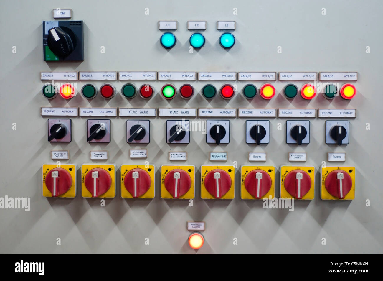 many buttons, and switches, control panel Stock Photo: 37948701 - Alamy