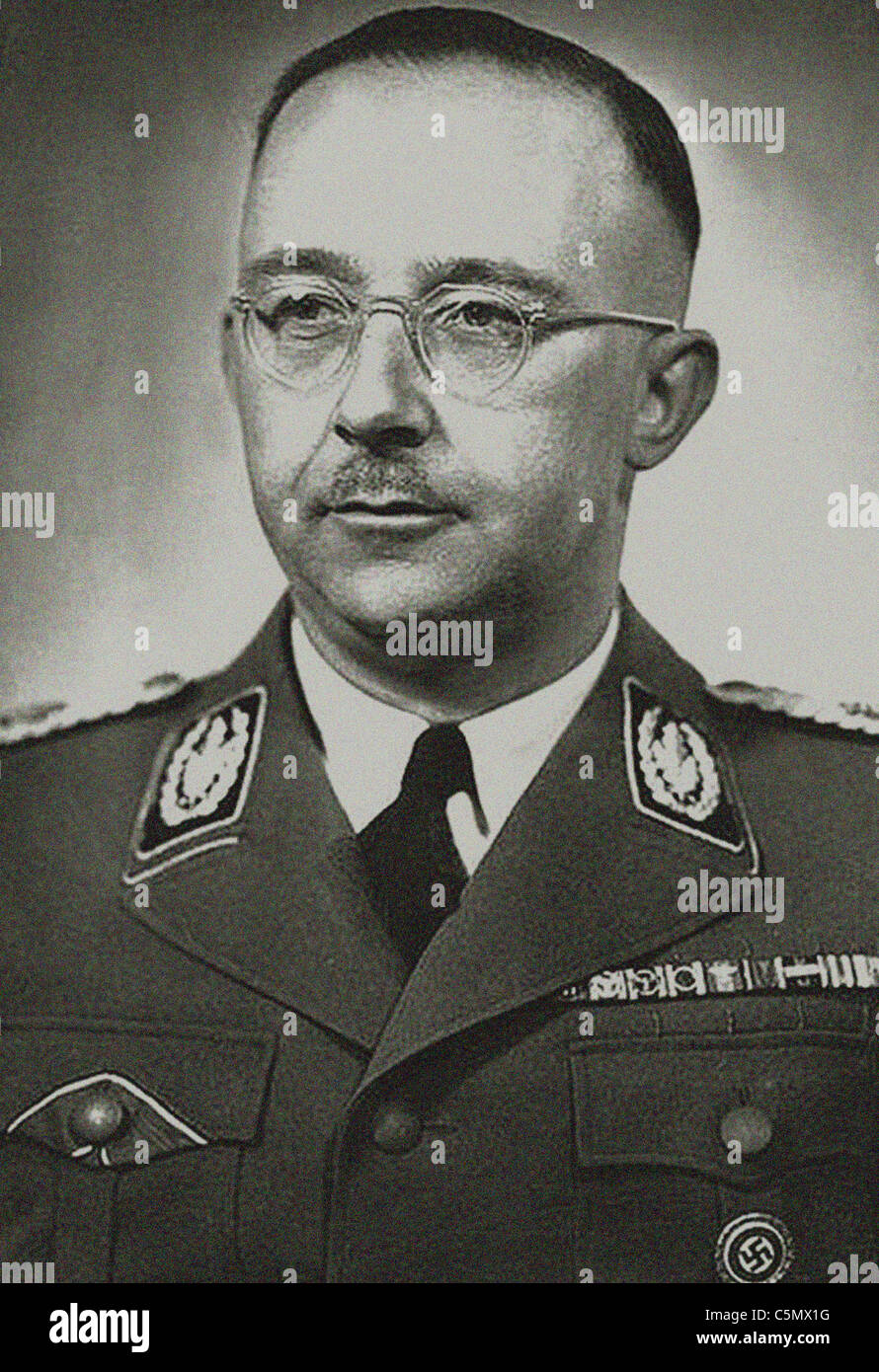 Heinrich Luitpold Himmler was Reichsführer of the SS, a military commander, and a leading member of the Nazi - Stock Image