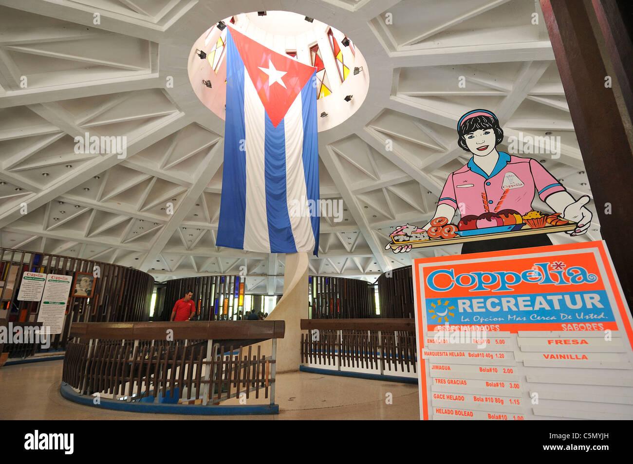 Havana. Cuba. Coppelia ice cream parlour in Vedado. - Stock Image