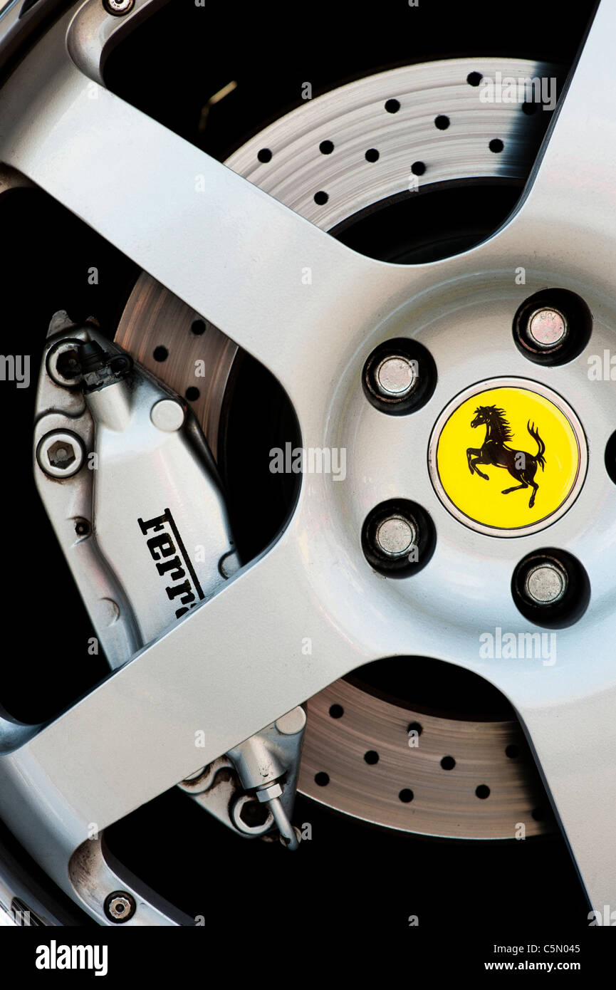 Ferrari wheel abstract - Stock Image