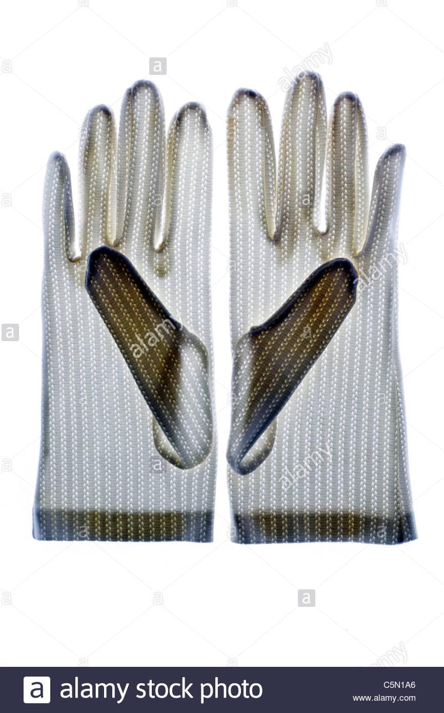 white gloves - Stock Image