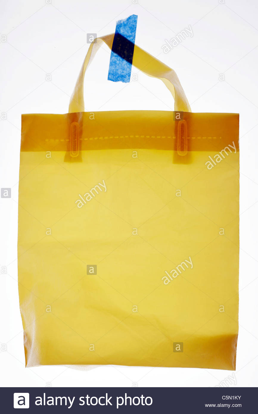 sturdy plastic shopping bag - Stock Image