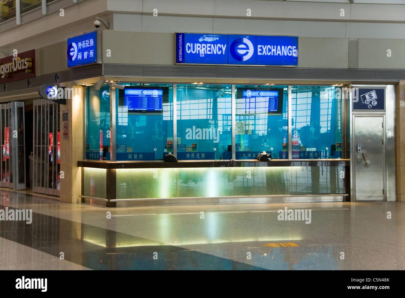 Bureau de change office operated by international currency exchange