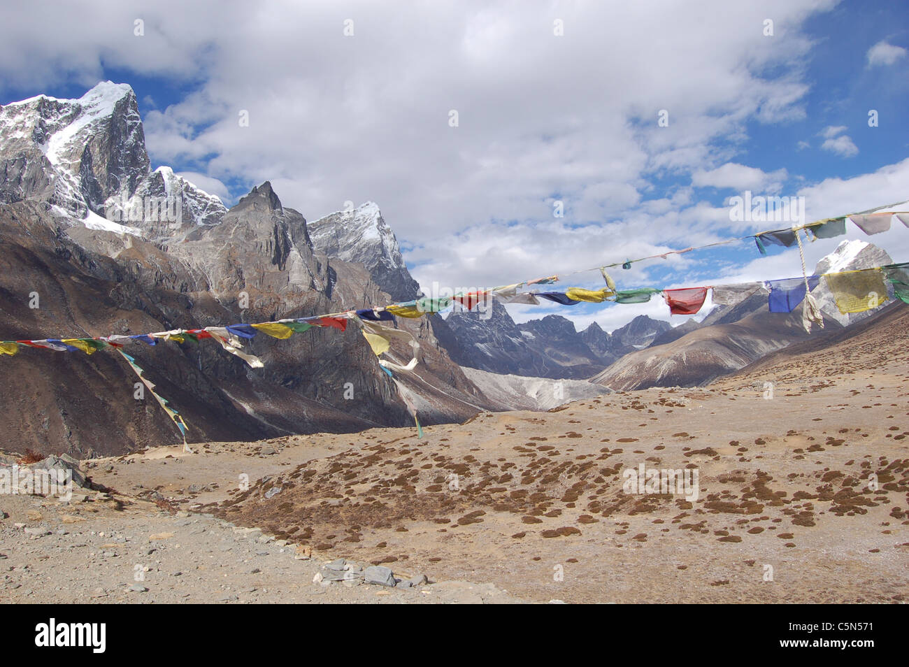 Himalayas - on the way to Everest Base Camp - Stock Image