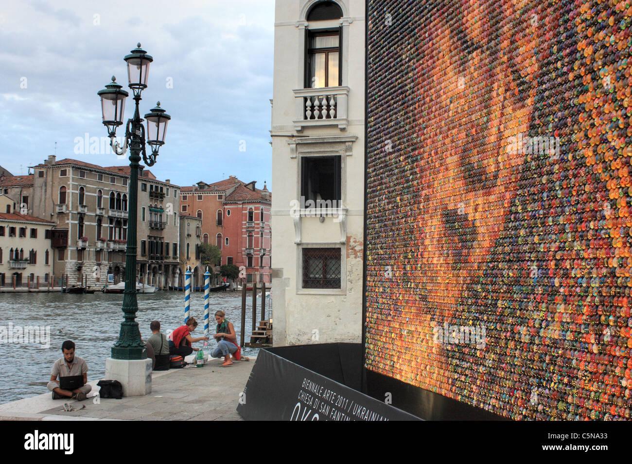 La Biennale di Venezia, Art exhibition Venice - Stock Image