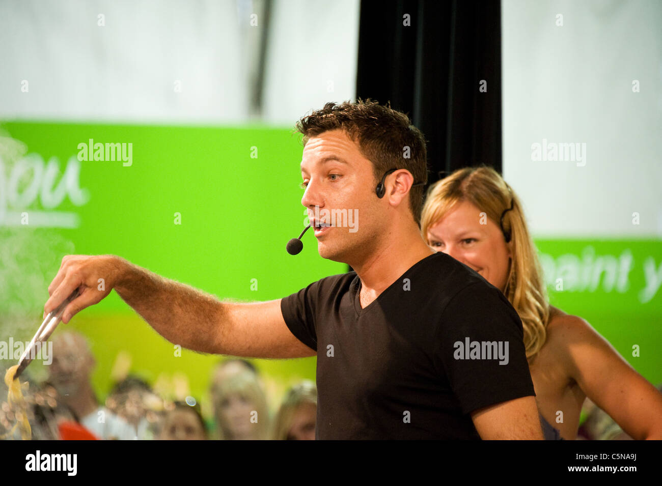 Gino D'Acampo, celebrity Chef at public event - Stock Image