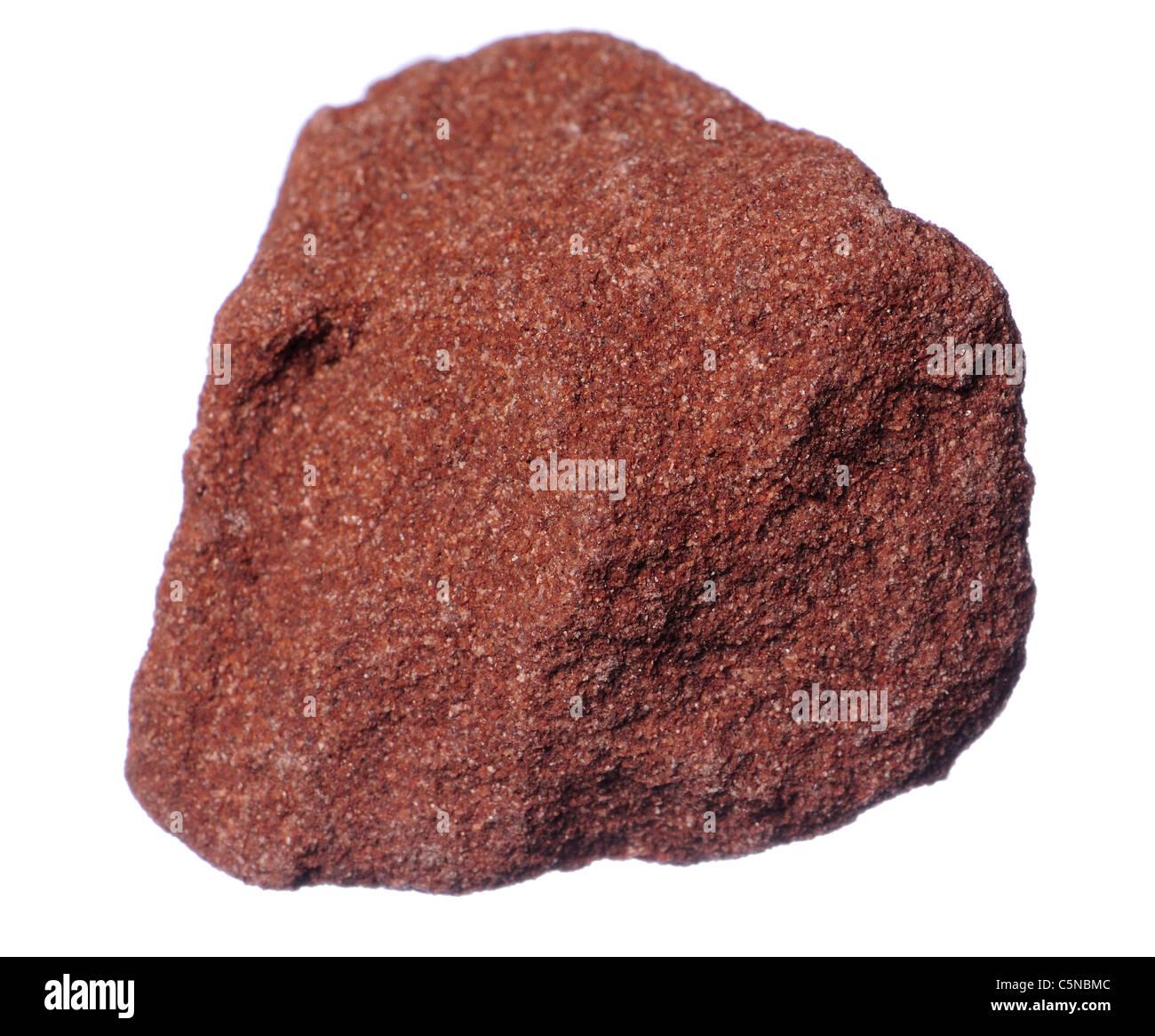Red Sandstone (UK) Sedimentary rock - Stock Image
